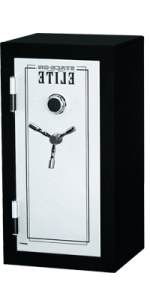 Stack-On-E-040-SB-C-Elite-Executive-Fire-Safe-with-Combination-Lock,-3-shelves,-Matte-Black_Silver