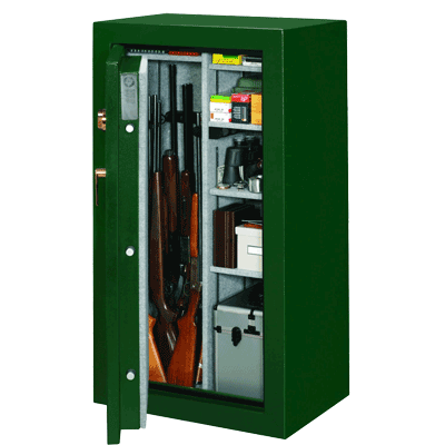 Stack-On-FS-24-MG-C-24-Gun-Fire-Resistant-Safe-with-Combination-Lock,-Matte-Hunter-Green