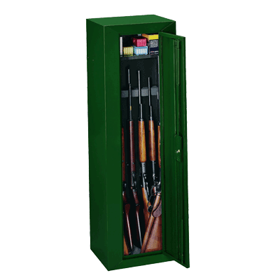 Stack-On-GCG-910-Steel-10-Gun-Security-Cabinet,-Green