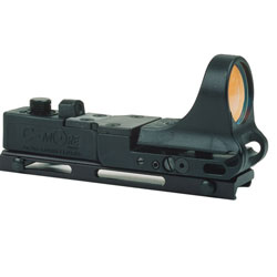 C-MORE Systems Railway Red Dot Sight with Click Switch