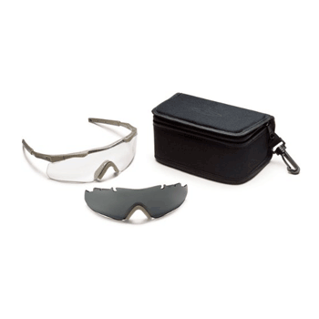 Smith Optics Elite Aegis Arc Compact Eyeshield Field Kit, Gray/Tan