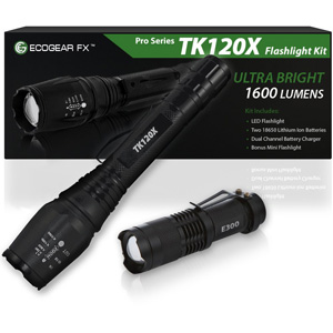 EcoGear FX Professional Grade LED Flashlight Kit